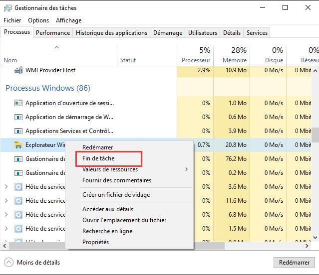 Explorateur Windows
