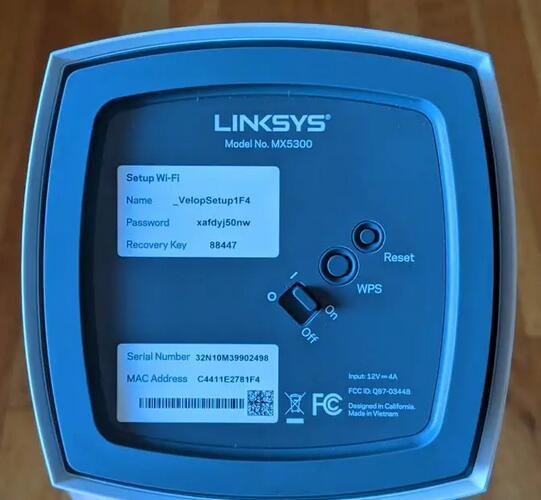 informations Wi-Fi