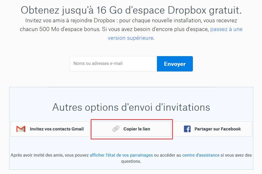 Dropbox Gratuit