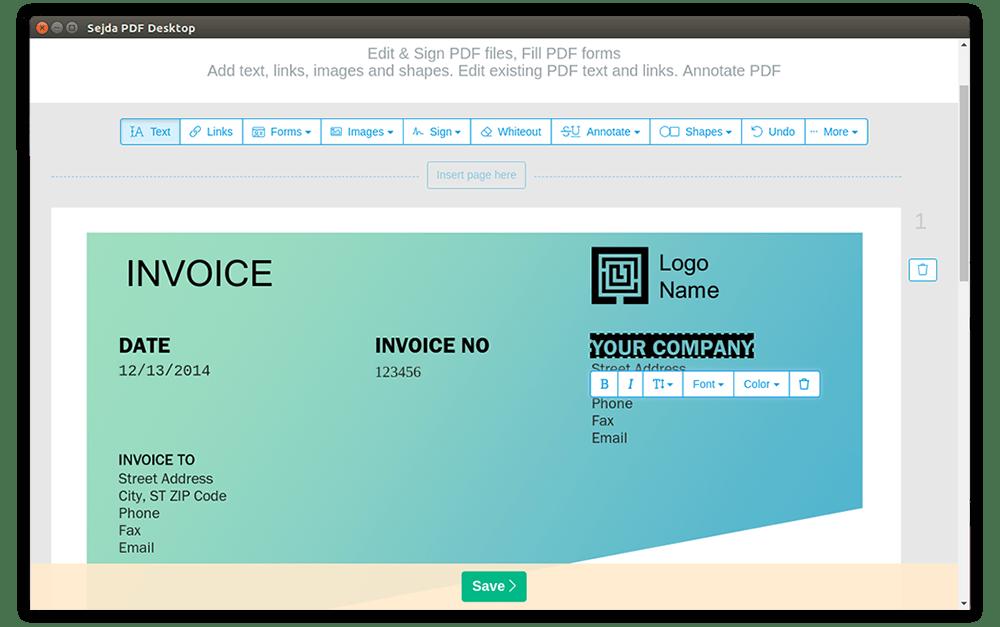 Sejda PDF Desktop